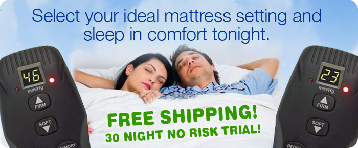 select your sleep comfort mattress setting