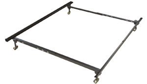 Metal Bed Frame - w. Headboard & Footboard Attachment