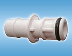 White Fitting Connector - Male